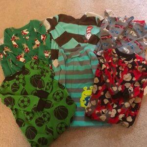 Bundle of 24M Boys Footie Pajamas (6 pairs)